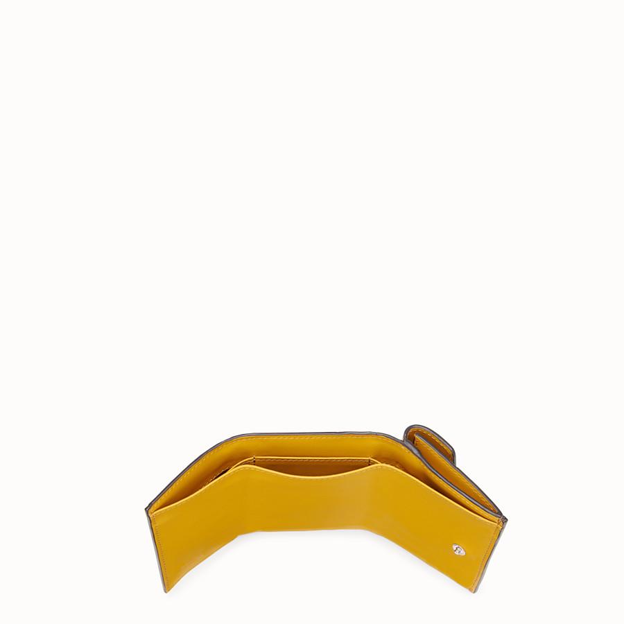 FENDI MICRO TRIFOLD - Yellow leather wallet - view 5 detail