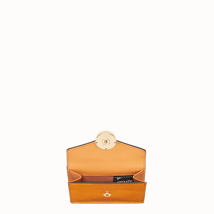 FENDI MICRO TRIFOLD - Orange karung wallet - view 3 detail