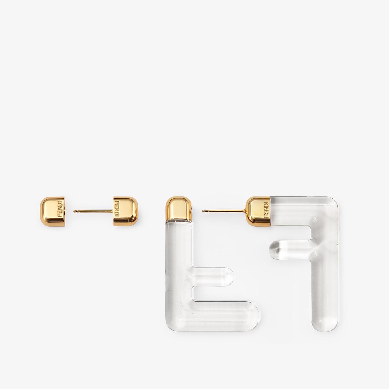 FENDI BOUCLES D'OREILLES FF SMALL - Boucles d'oreilles en plexiglas transparent - view 3 detail