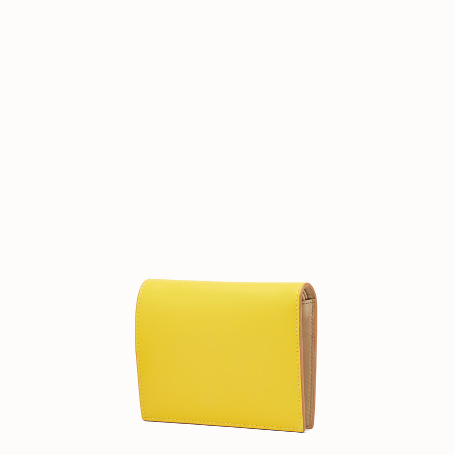 FENDI BIFOLD - Yellow compact leather wallet - view 2 detail