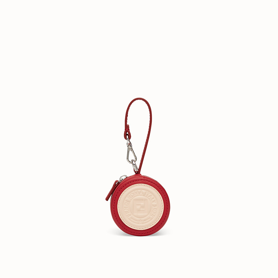 FENDI HELP BAG CHARM - Red leather charm - view 1 detail