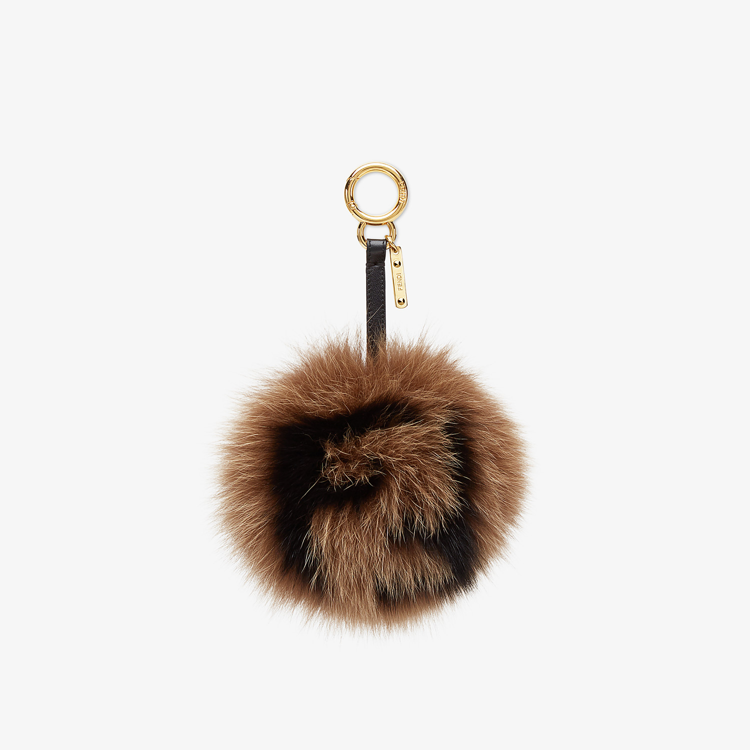 FENDI POM-POM CHARM - Multicolour fur charm - view 1 detail