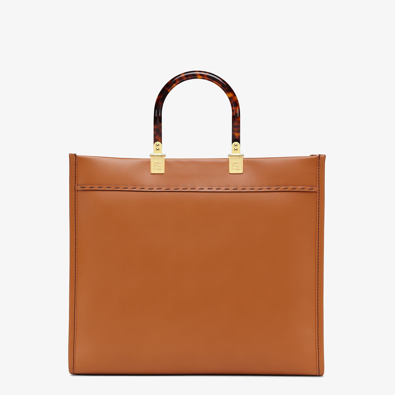 FENDI FENDI SUNSHINE MEDIUM - Brown leather shopper - view 4 detail