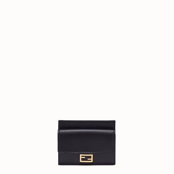 FENDI CARD HOLDER - Black nappa leather card holder - view 1 small thumbnail