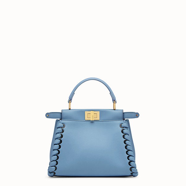 FENDI PEEKABOO MINI - Pale blue leather bag - view 1 small thumbnail