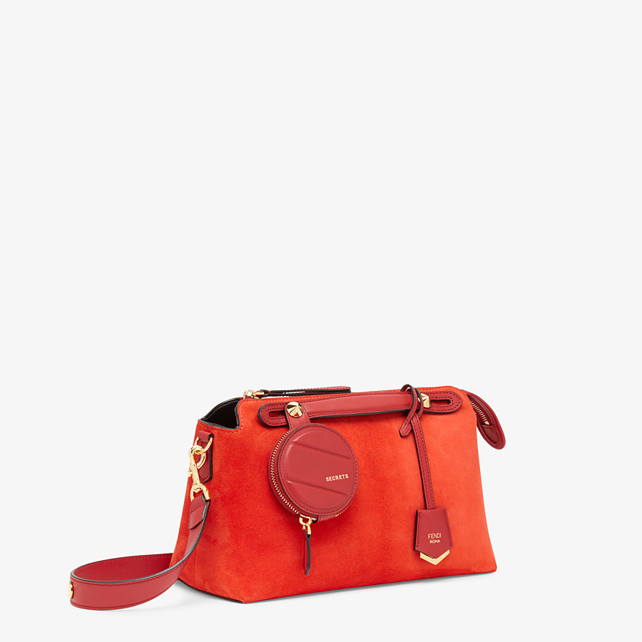 FENDI BY THE WAY MEDIUM - Red suede Boston bag - view 2 detail