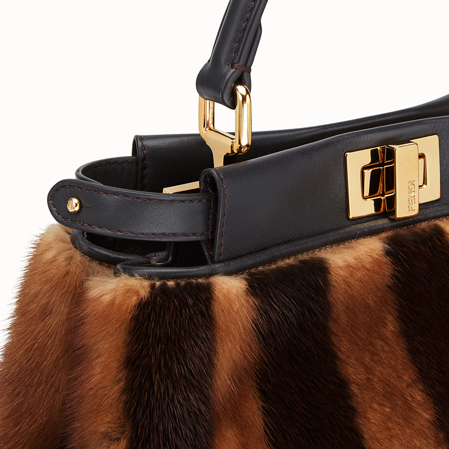 FENDI PEEKABOO ICONIC MINI - Black mink bag - view 5 detail