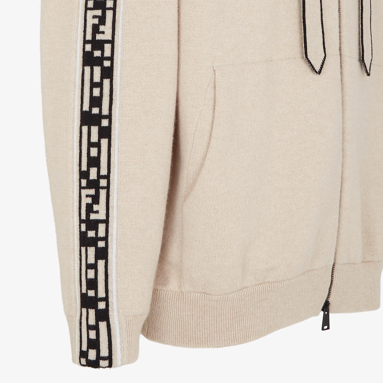 FENDI CARDIGAN - Beige cashmere cardigan - view 3 detail