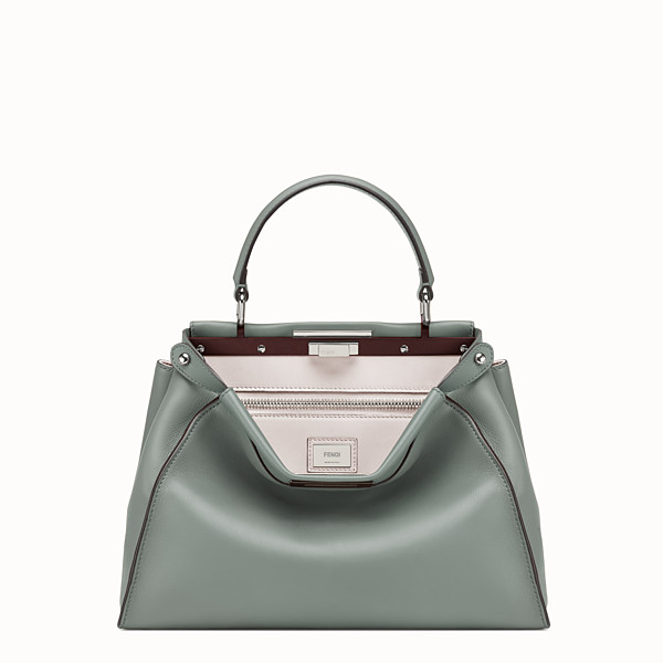 FENDI PEEKABOO REGULAR - Green leather bag - view 1 small thumbnail