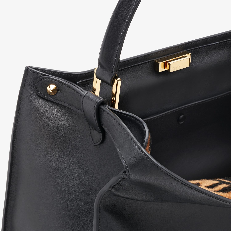 FENDI PEEKABOO X-LITE LARGE - Black leather bag - view 6 detail