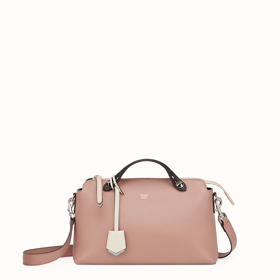 FENDI BY THE WAY REGULAR - Pink leather Boston bag - view 1 detail