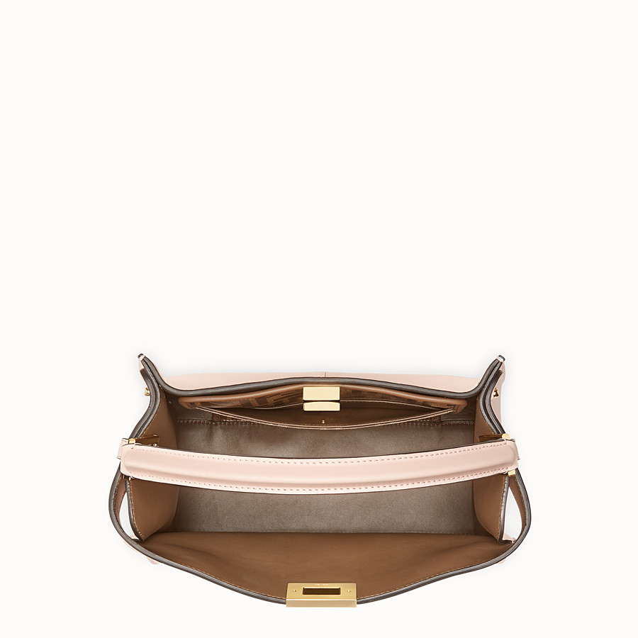 FENDI PEEKABOO X-LITE REGULAR - Pink leather bag - view 5 detail
