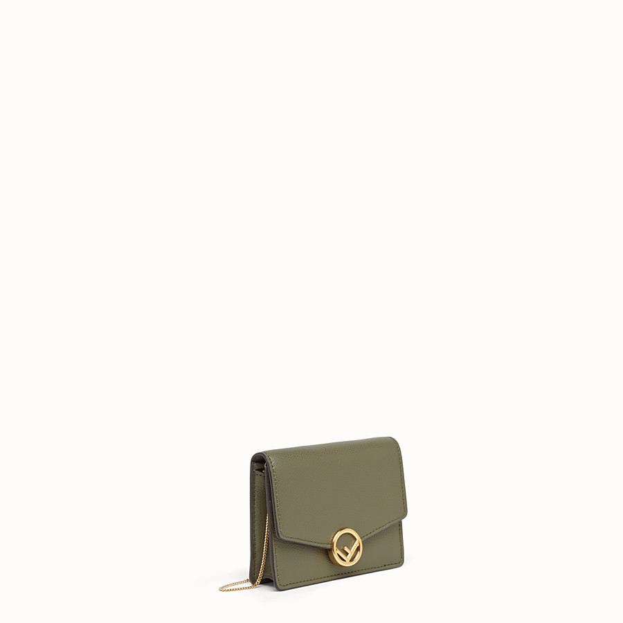 FENDI WALLET ON CHAIN - Green leather mini-bag - view 2 detail