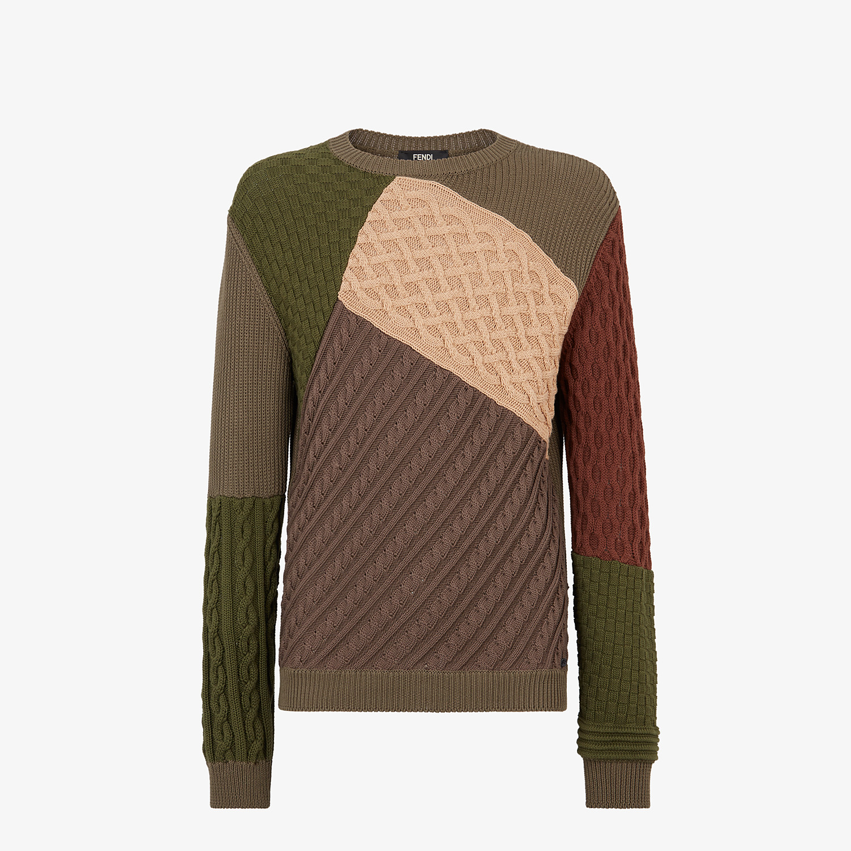 FENDI SWEATER - Multicolor cotton sweater - view 1 detail