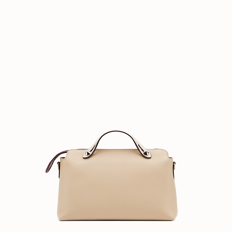 FENDI BY THE WAY REGULAR - Beige leather Boston bag - view 3 detail