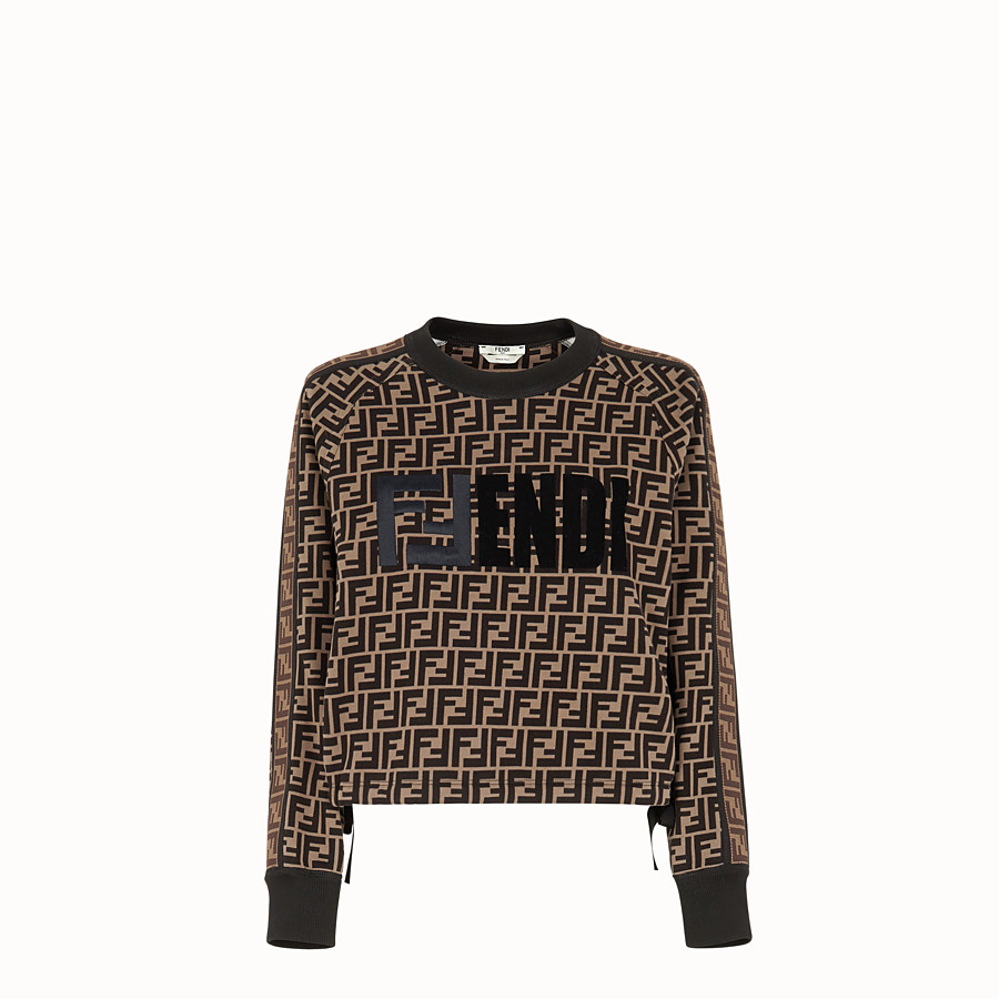 FENDI SWEATSHIRT - Multicolour cotton sweatshirt - view 1 detail