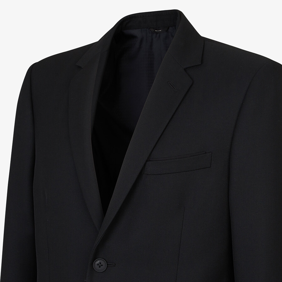 FENDI JACKET - Black wool blazer - view 5 detail