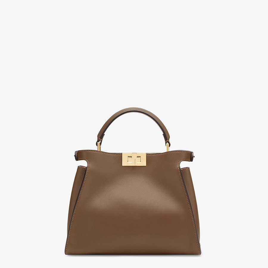 FENDI PEEKABOO ICONIC ESSENTIALLY - Brown leather bag - view 3 detail