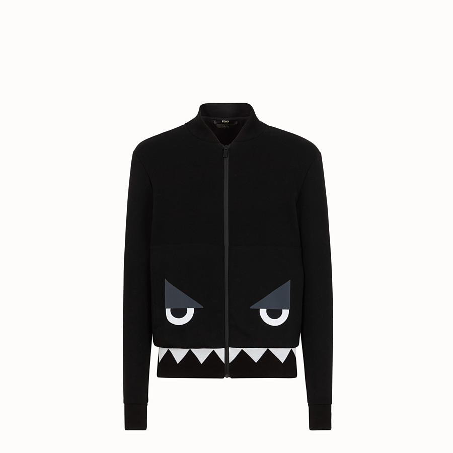 FENDI 飛行員外套運動衫 - 黑色棉質外套 - view 1 detail