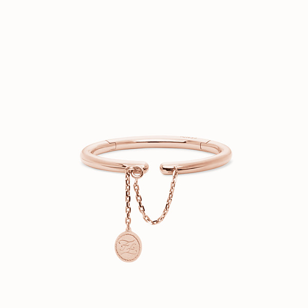 FENDI KARLIGRAPHY BRACELET - Pink-gold-coloured bracelet - view 1 small thumbnail