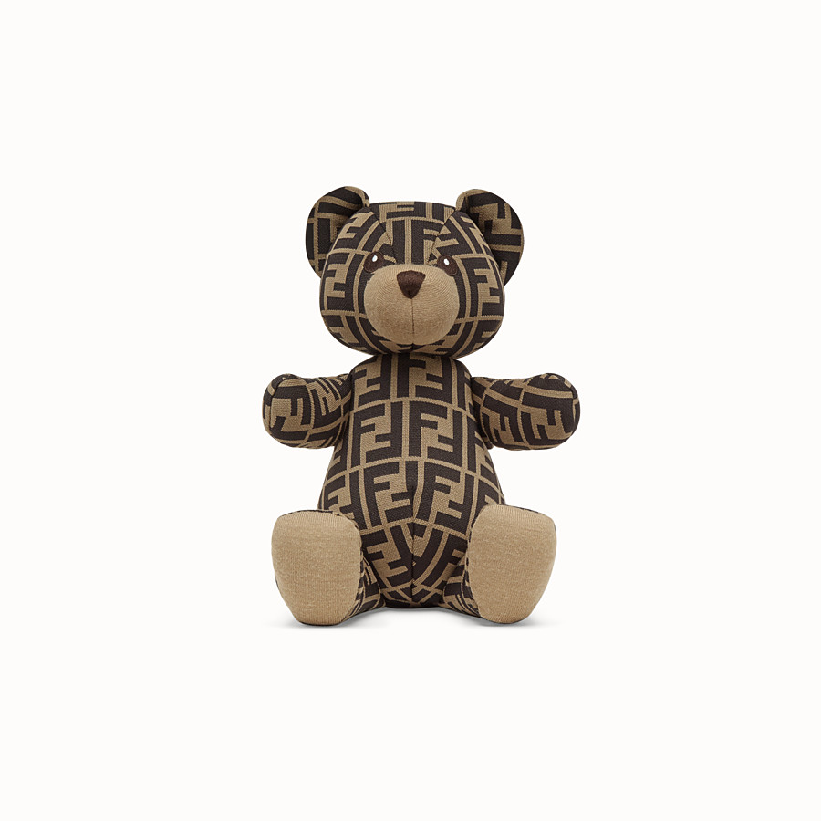 FENDI FENDI TEDDY BEAR JERSEY WITH FF LOGO - Jacquard teddy bear - view 1 detail
