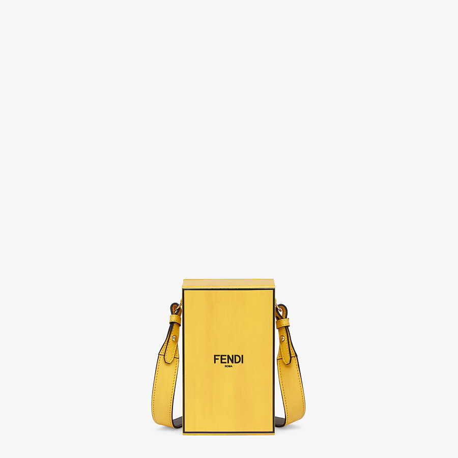 FENDI VERTICAL BOX - Yellow leather bag - view 1 detail