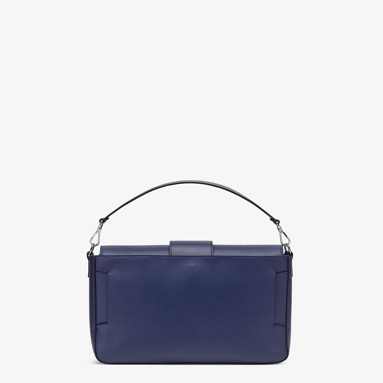FENDI BAGUETTE LARGE - Blue calf leather bag - view 4 detail