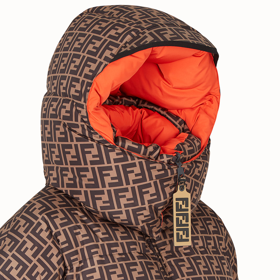 FENDI DOWN JACKET - Multicolour padded down jacket - view 3 detail