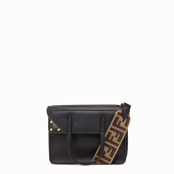 FENDI FENDI FLIP SMALL - Black leather bag - view 1 small thumbnail