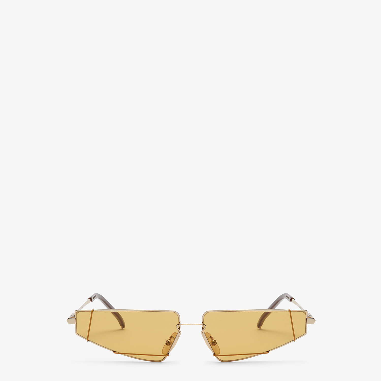 FENDI FENDIFIEND - Brown and gold sunglasses - view 1 detail