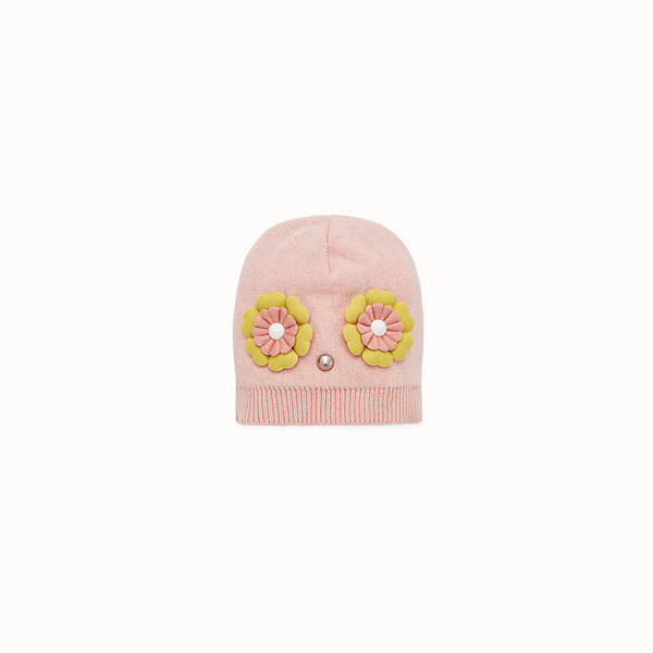 FENDI CAPPELLO - Cappello baby girl in misto lana rosa - vista 1 thumbnail piccola