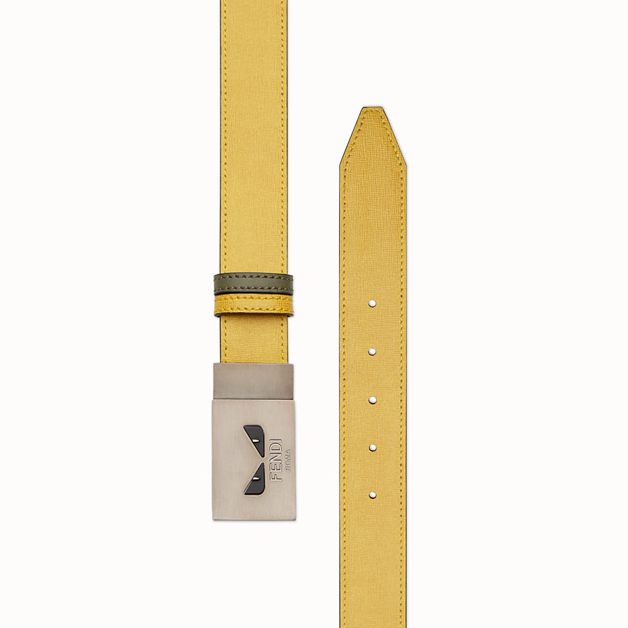 FENDI BELT - Yellow and green reversible belt - view 2 detail