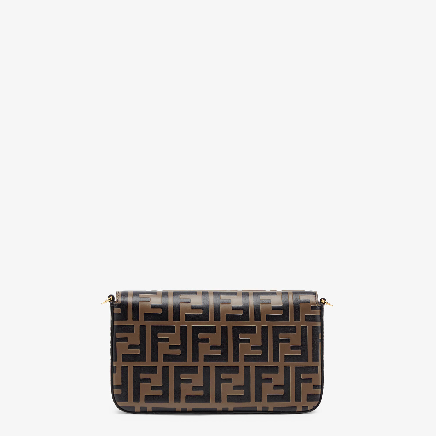 FENDI WALLET ON CHAIN WITH POUCHES - Brown leather mini-bag - view 4 detail