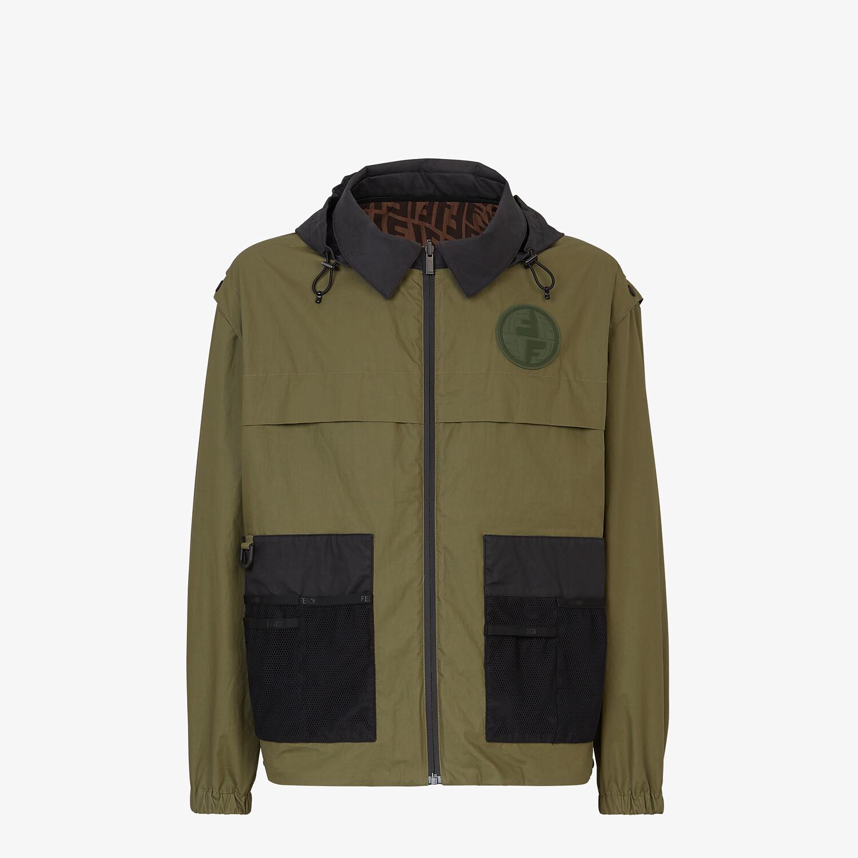 FENDI WINDBREAKER - Multicolor nylon jacket - view 1 detail