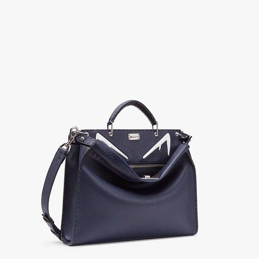 FENDI PEEKABOO ICONIC FIT - Tasche aus Leder in Blau - view 2 detail