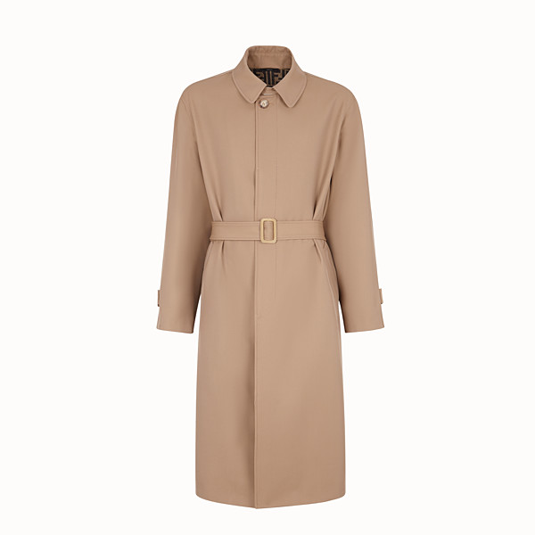 FENDI TRENCH COAT - Beige wool trench coat - view 1 small thumbnail