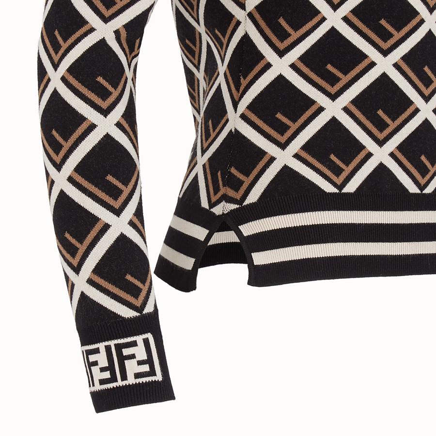 FENDI PULLOVER - Multicolour fabric jumper - view 3 detail