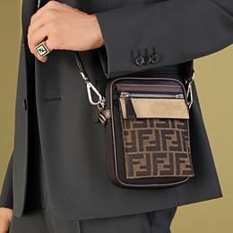 FENDI MESSENGER - Black nylon bag - view 7 thumbnail
