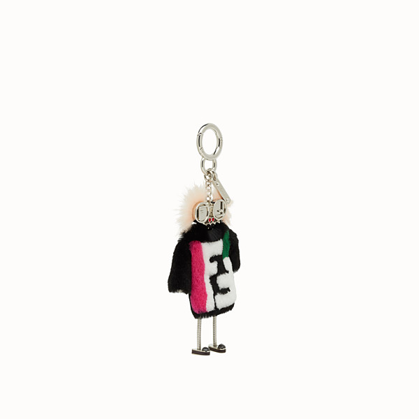 FENDI TEEN WITCHES CHARM - Charm in black rabbit fur - view 1 small thumbnail