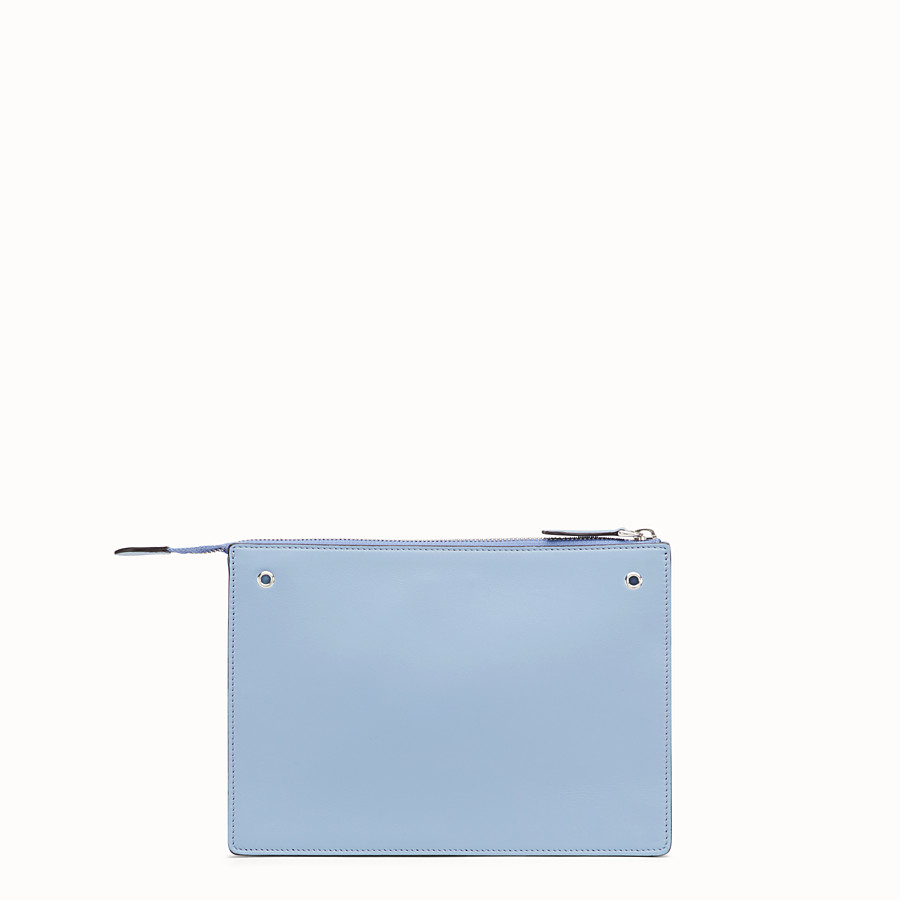 FENDI MINI POUCH - Light blue leather mini-bag - view 3 detail