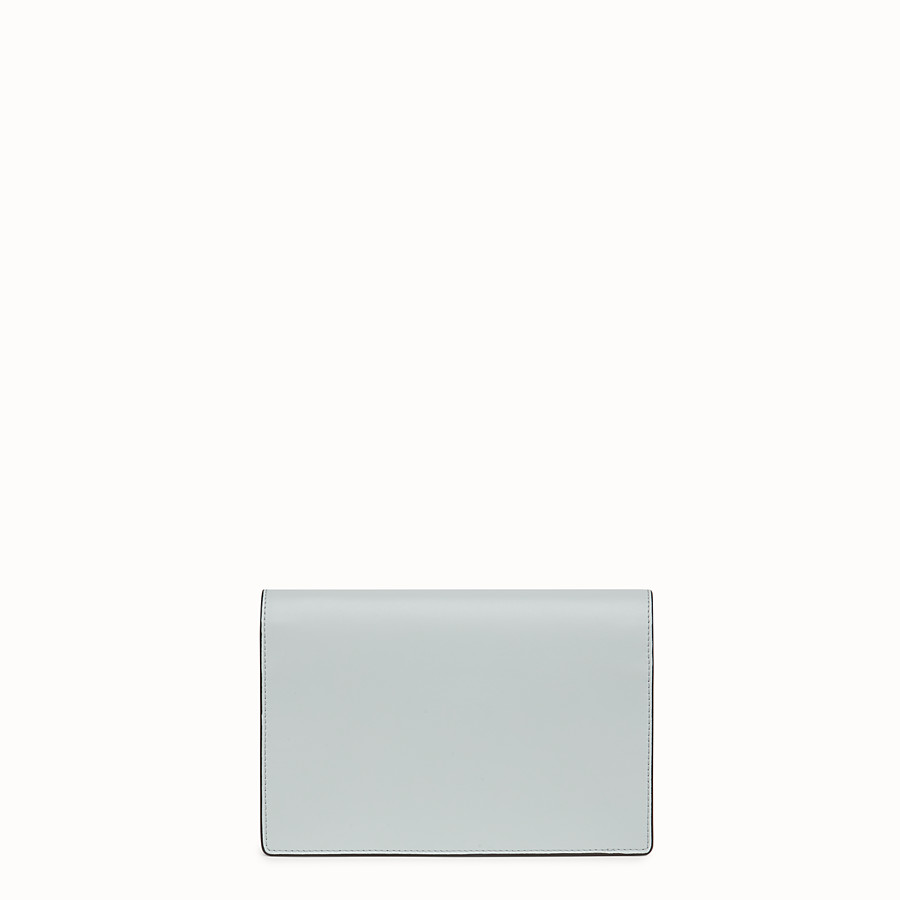 FENDI WALLET ON CHAIN - Gray leather mini-bag - view 3 detail