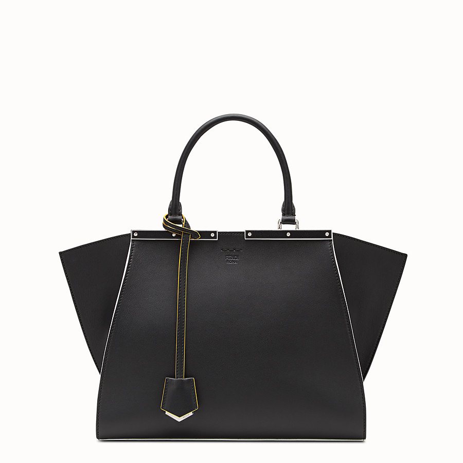 FENDI 3JOURS - Black leather shopping bag - view 1 detail