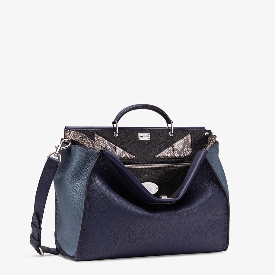 FENDI PEEKABOO MEDIUM - Blue Romano leather bag - view 2 detail