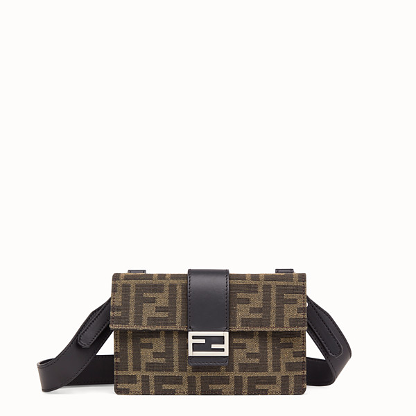 FENDI BAGUETTE POUCH - Brown fabric bag - view 1 small thumbnail