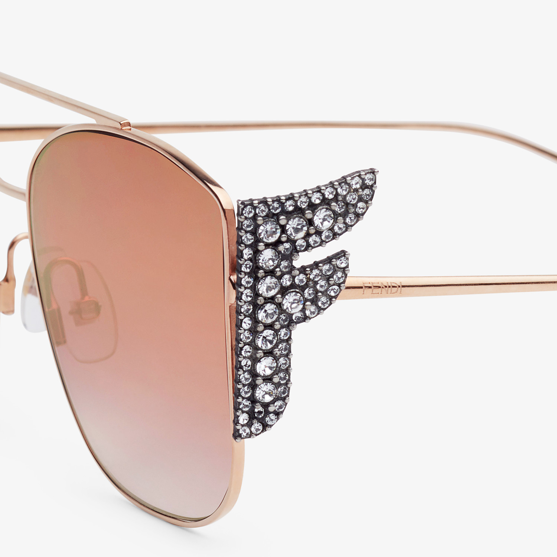 FENDI FFREEDOM - Gold-coloured sunglasses - view 3 detail