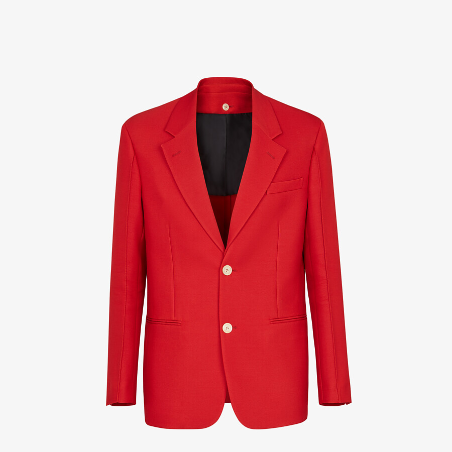 FENDI JACKET - Red wool jacket - view 1 detail