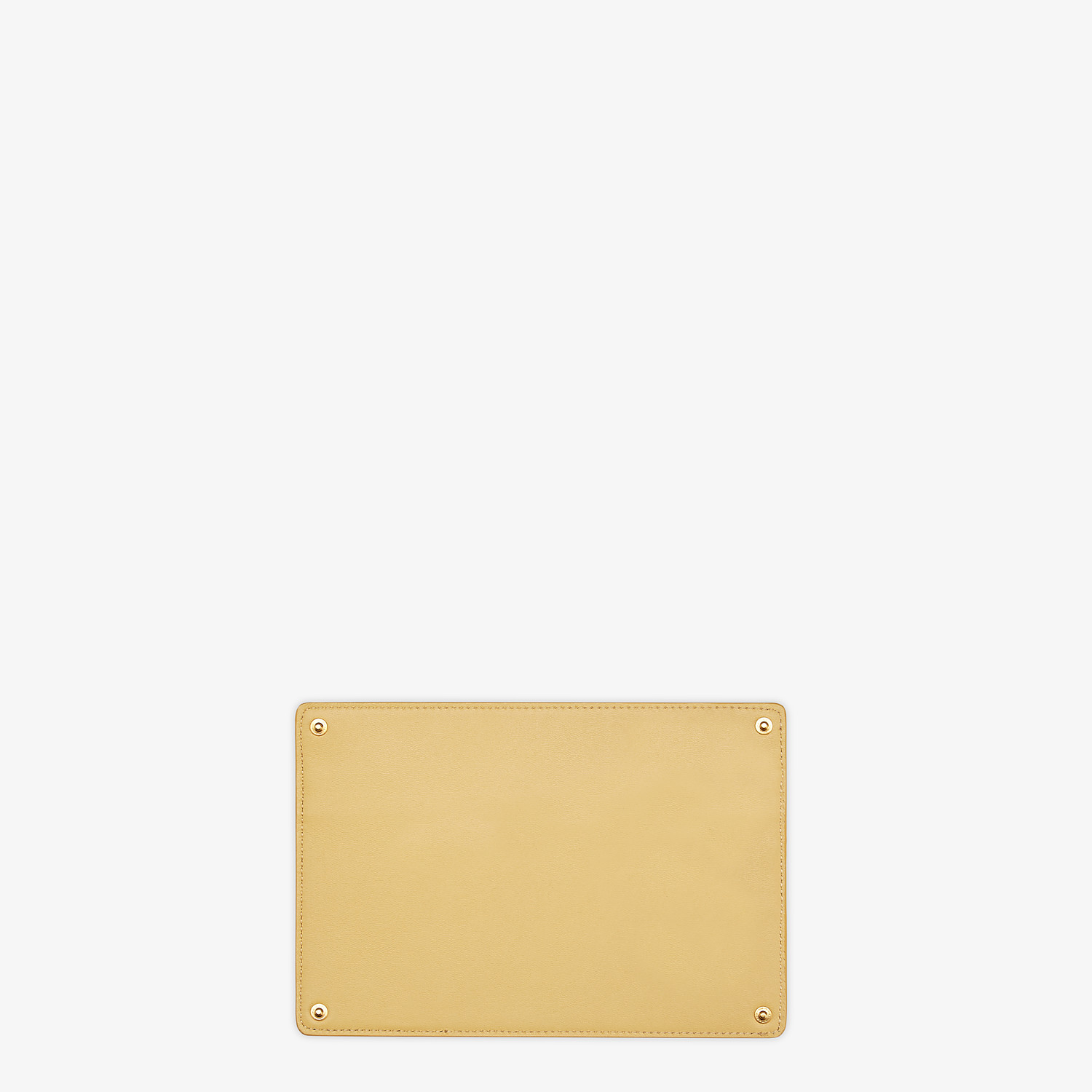 FENDI PEEKABOO ISEEU POCKET - Accessory pocket in yellow leather - view 2 detail