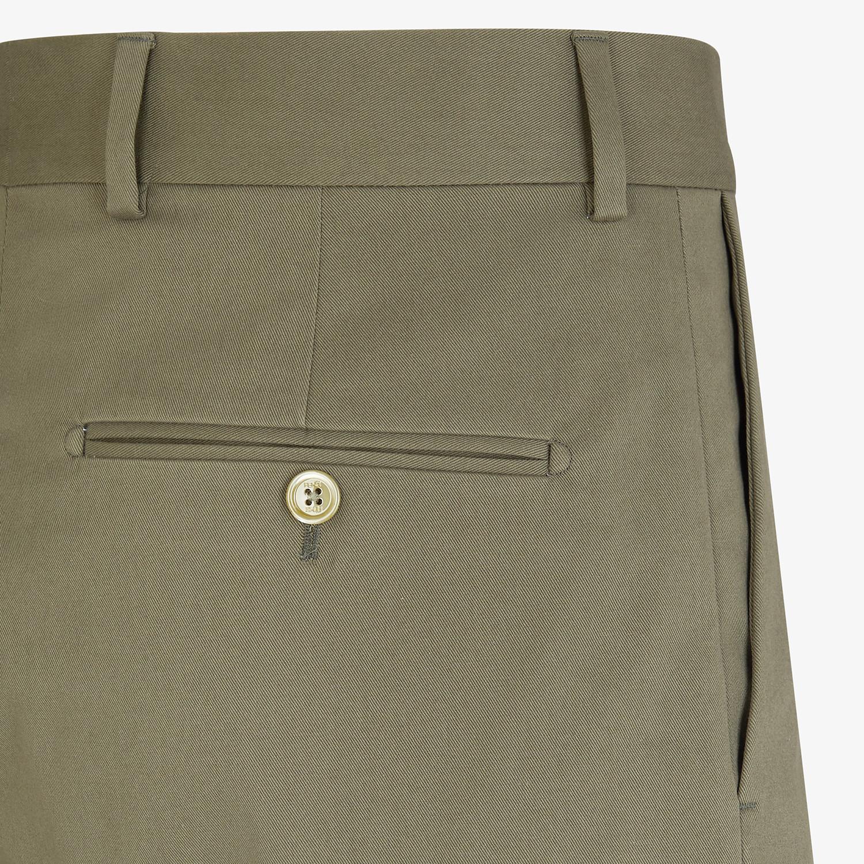 FENDI BERMUDAS - Green cotton trousers - view 3 detail
