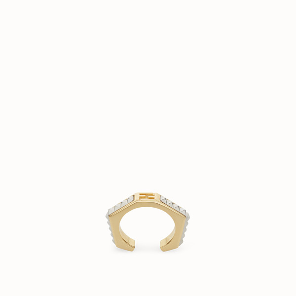 FENDI BAGUETTE RING - Baguette ring with micro-studs - view 1 small thumbnail