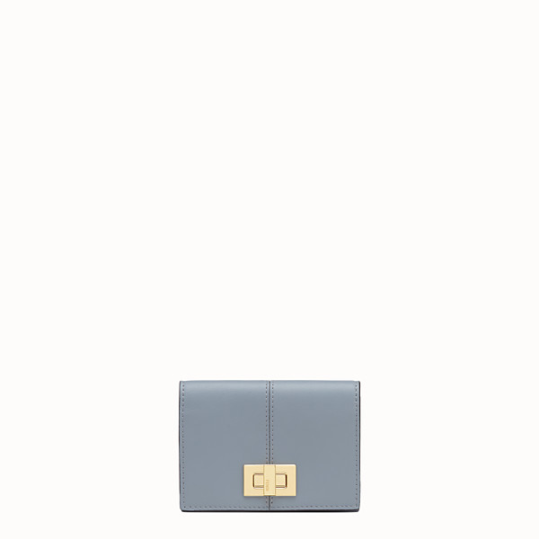 FENDI CARD HOLDER - Grey leather wallet - view 1 small thumbnail